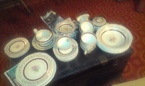 China cups, dishes, assorted pieces