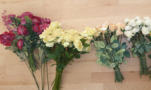 Beautiful fake flowers $ 10 - $ 15 per color or all $ 40