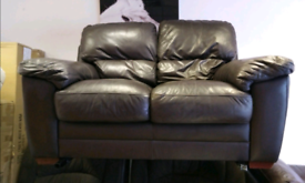 Quality brown leather 2 seater