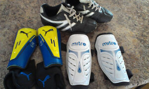 soccer cleats/shin pads
