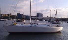 SAILING YACHT WESTERLEY J24. Very popular one design keelboat.
