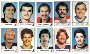 16 ESSO NHL 1983/84 HOCKEY CARDS LANNY MCDONALD GLENN ANDERSON