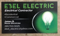 Electricial contractor in Hamilton and area
