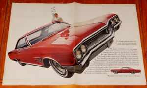 1965 BUICK WILDCAT COUPE COOL LARGE AD - ANONCE VINTAGE 60S
