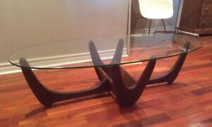 TABLE SALON TEAK TECK RÉTRO VINTAGE ADRIAN PEARSALL