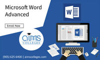 Micro Soft Word Advanced Training Certification | AIMS College