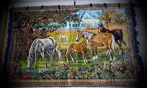 Wall Carpet / Tapestry - Horses in Meadow