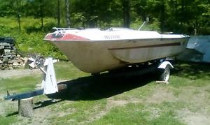 crysler  boat motor and trailer