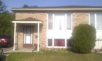 3 BEDROOM UPPER PORTION OF SEMI FOR RENT.  $1300 ALL INCLUSIVE!