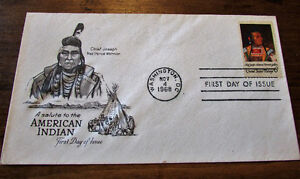 1968 Saluting American Indian 6 Cent First day Cover Kitchener / Waterloo Kitchener Area image 4