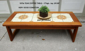 TODAY 1970S TEAK COFFEE TABLE & END TABLE - GRT. ORIG. CONDITION