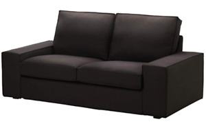 KIVIK Loveseat COVER Idemo Black Cotton