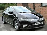 2007 HONDA CIVIC 1.8 ES FINISHED IN NIGHTHAWK BLACK PEARL PANORAMIC GLASS ROOF