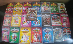 Power Rangers complete seasons 1-8, 13-17, and 22 DVD