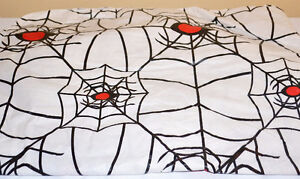 Halloween Spider Web Flannel-Backed Vinyl Table Cover St. John's Newfoundland image 1