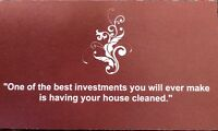 HOUSE CLEANING SERVICES - openings available!