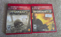 Resistance 1 and 2 Playstation 3 New