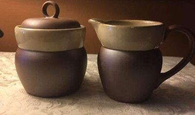 -  Sango Made Canyon Sage Clay Sugar Creamer Jar Pitcher Earth NIB
