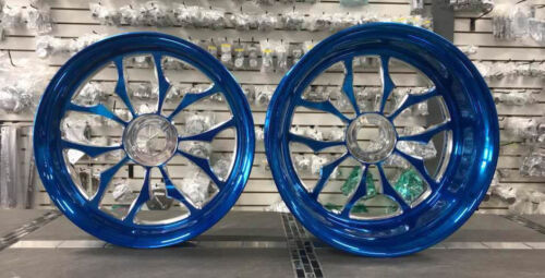 Hayabusa Candy Blue Stock Size Recluse Wheel Package For 99-07 Suzuki Hayabusa