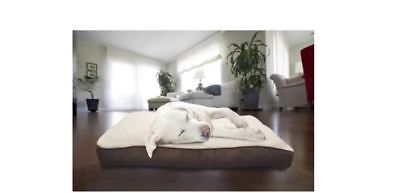 Dog Bed Suede Large Comforter Pillow Removable Cover For Cleaning Brown New