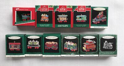 Noel RR ~ 11 Train Cars ~ Hallmark Miniature Ornaments, Complete Collectors Set