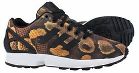 adidas Originals Womens ZX Flux snake Print Trainers brand new £50