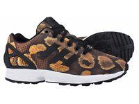 adidas Originals Womens ZX Flux snake Print Trainers brand new £50