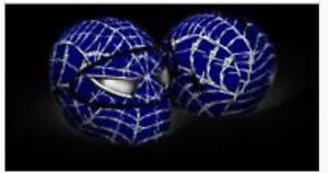 Brand new Motorcycle helmet cover Spider man blue