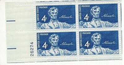 1959 #1116 Abraham Abe Lincoln Statue 4 Cent Stamp U.S. Postage - Block of 4 for sale  Knoxville