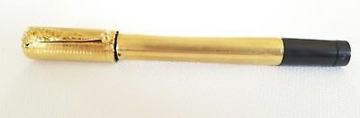 Vintage WATERMAN'S SAFETY PEN 18K .R. Gold Floral Cap Clip #2 NIB RARE HTF
