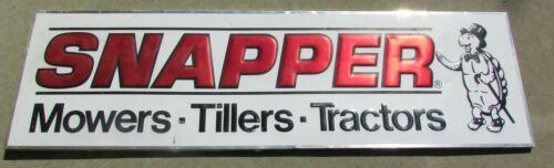 "Vintage SNAPPER Mowers Tillers Tractors Dealer Embossed 70"" X 20"" Metal Sign"