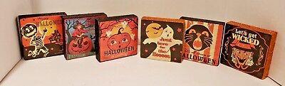 Shelf Sitter Blocks Stackables Happy Halloween Set of 6 (Blocks Happy Halloween)
