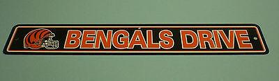 CINCINNATI BENGALS STREET SIGN - BENGALS DRIVE (Bengals Street Sign)
