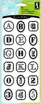 Inkadinkado Clear Stamps Framed Alphabet & Numbers