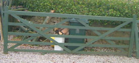 "12' 0"" Wooden five barred gate"