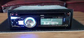 CAR HEAD UNIT JVC KD - R721BT MP3 CD PLAYER WITH USB AUX 4x 50 AMPLIFIER AMP STEREO RADIO