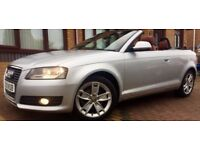 09 Audi A3 cabriolet 2.0 tdci 140 BHP sport convertible 1 owner,alloys,leather