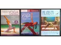 3 New DVDs: Yoga & Pilates (3 disks total)