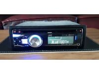 CAR HEAD UNIT JVC KD - R721BT MP3 CD PLAYER WITH USB AUX 4x 50 AMPLIFIER AMP STEREO RADIO