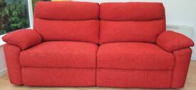Red One, Two & Three Seater Recliner Sofas