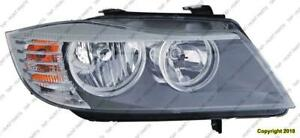 Head Light Passenger Side Sedan/Wagon Halogen High Quality BMW 3-Series 2009-2011