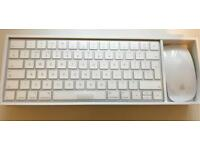 Apple Magic Wireless Keyboard and Mouse in box