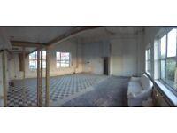 Industrial Warehouse hire £200pd. Empty - photography film shoots casting. Natural light. Tottenham