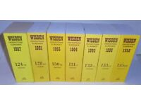 20 Wisden Cricketers' Almanacks, Playfair Cricket Annuals & Cricketers Who's Who - Various Years
