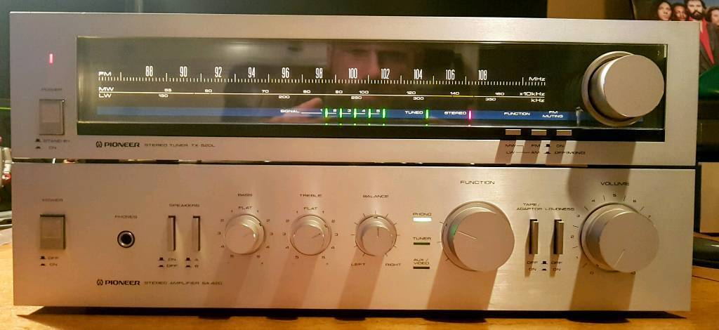 Pioneer SA-420 Amplifier and TX-520L Tuner  Vintage  | in