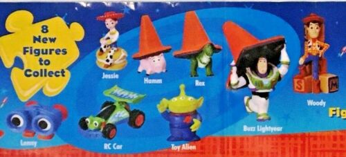 "Toy Story 2 Full Set 8 Figures Tomy Gacha Toy Vending 2"" Capsules Disney Pixar"