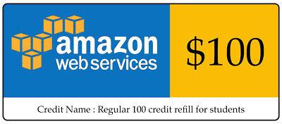 AWS $100 Code Amazon Promocode Credit Web Services Regular 100 Instantly sent