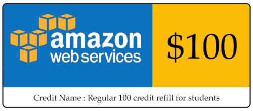 AWS $100 Code Amazon Promocode Credit Web Services Regular 100 Instantly sent