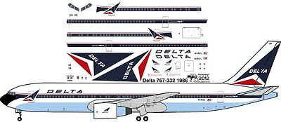 Delta delivery livery Boeing 767-300 decals for Revell 1/144 kit for sale  Oceanside