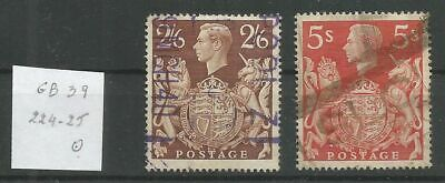 Grande-Bretagne 1939 224-25 ° George VI Armoiries